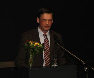 Prof. Dr. Roland Brühe bei seiner Antrittsvorlesung